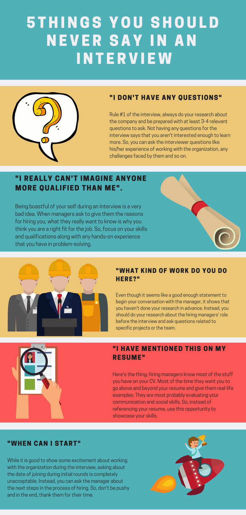 5 Things You Should Never Say In An Interview Beachhead Professiona5