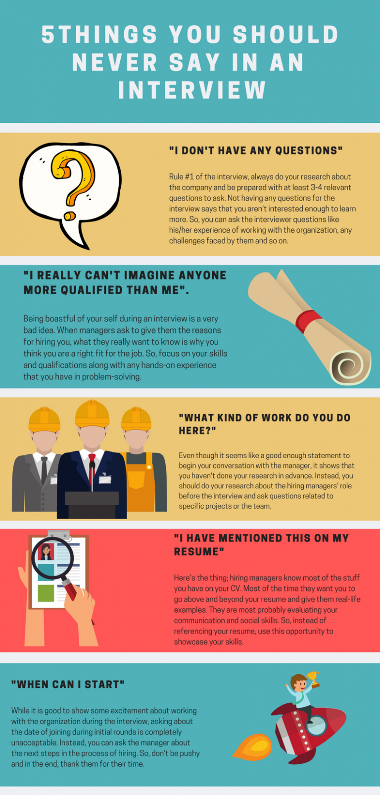 5 Things You Should Never Say in an Interview